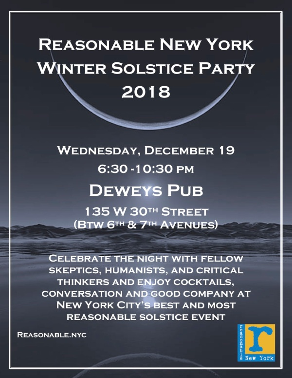 Winter Solstice Party 2018 Flyer